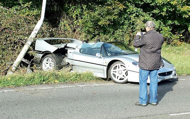 Ferrari F50 crashed
