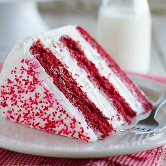Red Velvet Ice Cream Cake