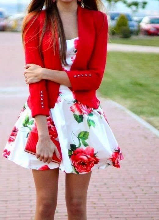 Rose Print Dresses2