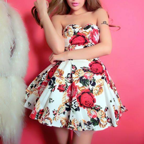Rose Print Dresses4