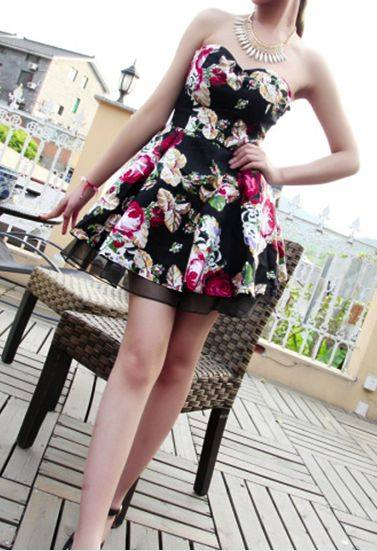 Rose Print Dresses5