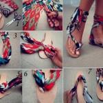 Scarf Sandals