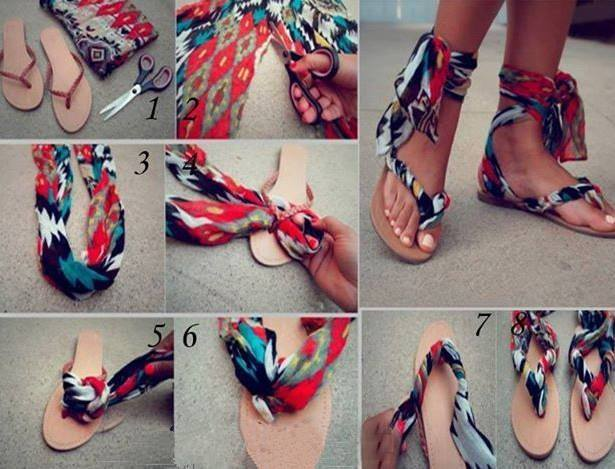 Scarf Sandals how to