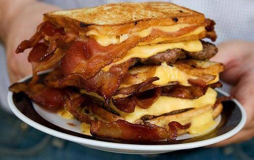 Stacked Bacon, Egg & Cheese Sandwich, mmm!