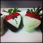 Chocolate Covered Strawberries, Bride and Groom!