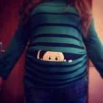Baby peeking out shirts