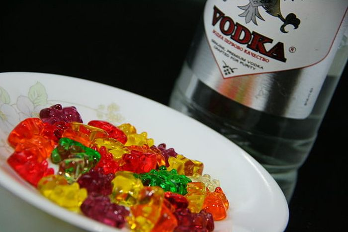 gummy bears and vodka