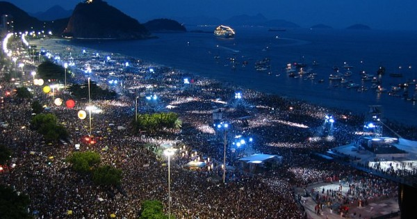 The Rolling Stones, 1.5million people, Copacabana Beach, Rio De Janeiro 2006