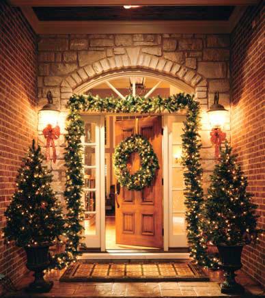 Christmas entryway knody - Decorar una casa en navidad ...