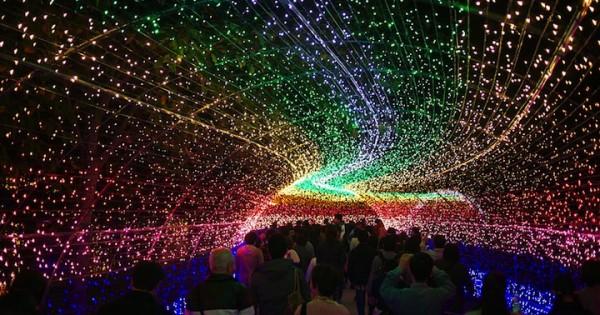 Botanical Garden With Millions Of LEDs, Japan.