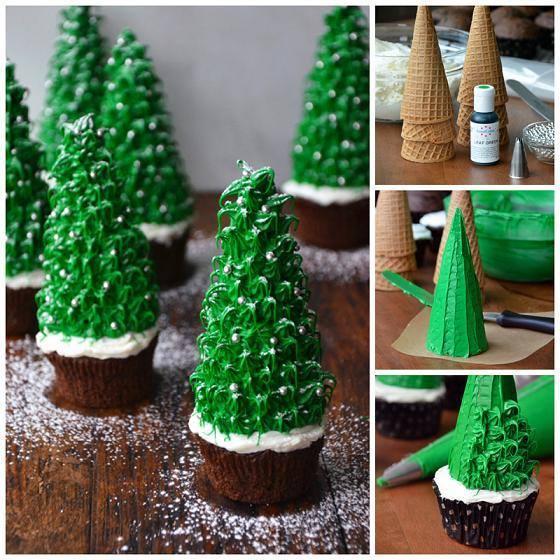 creativ Christmas Tree Cupcakes