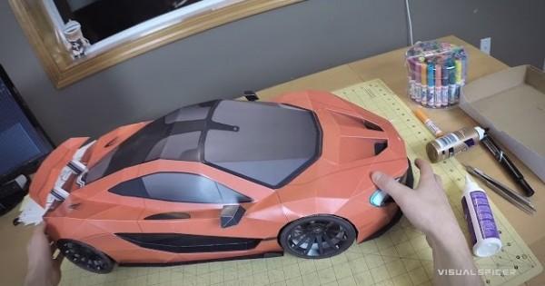 Building The McLaren P1 Paper-Super-Craft