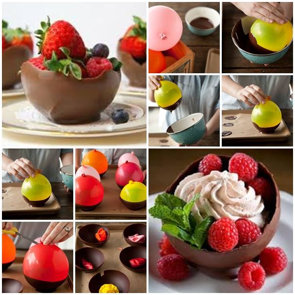 Chocolate Bowls with Balloon