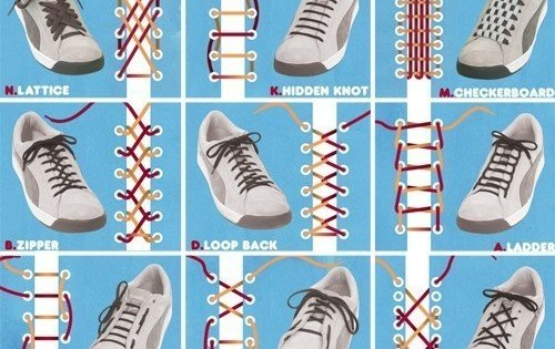 Few Ways To Tie Your Shoes
