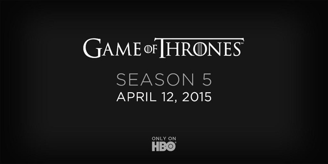 Game of Thrones will be back on April 12