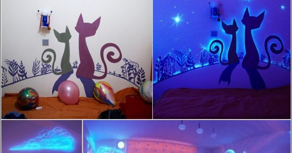 When The Lights Go Out, Glowing Murals Turn Rooms Into..
