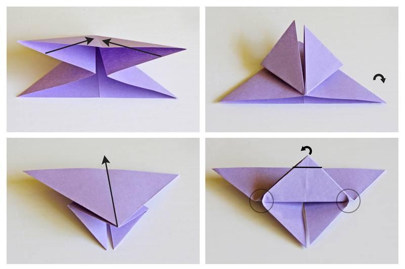 Как сложить бабочку оригами