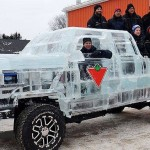 World's First Drivable Ice Truck. Canada