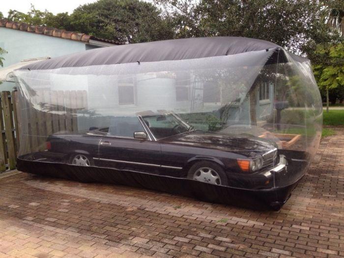 car in bubble
