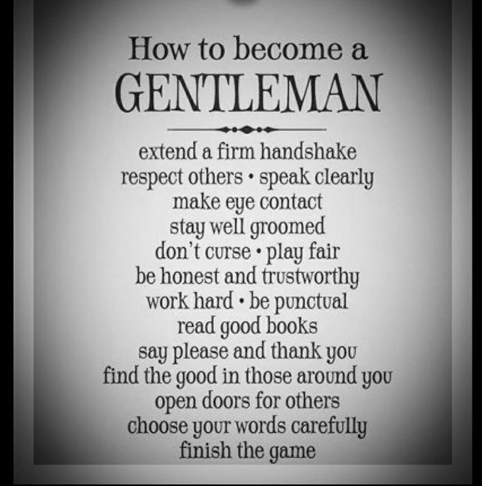 how to become a gentleman