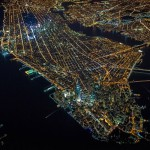 New York From The Sky At Night