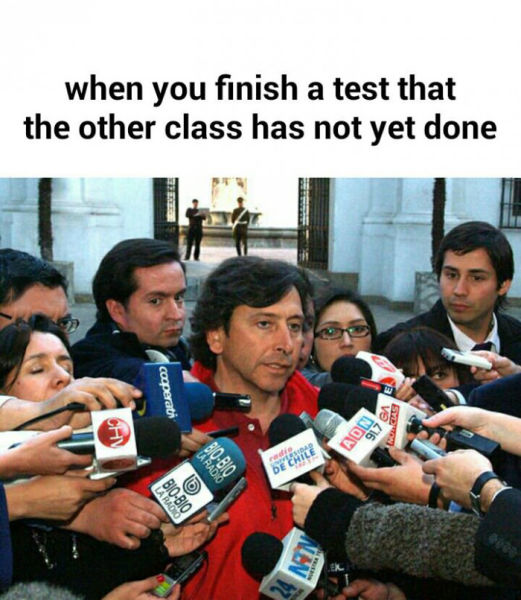 when you finish a test first