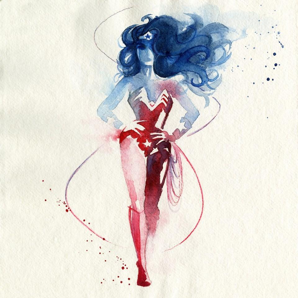 Amazing Watercolor Superheroes7