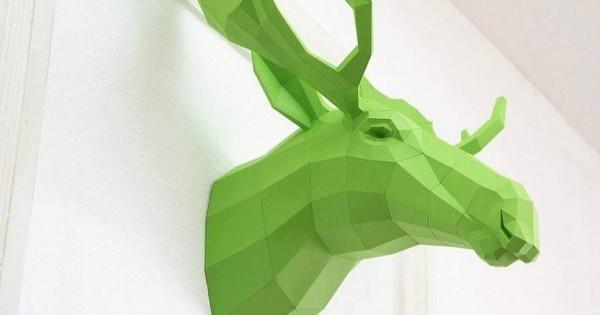 Art: Geometric Paper Animal Sculptures