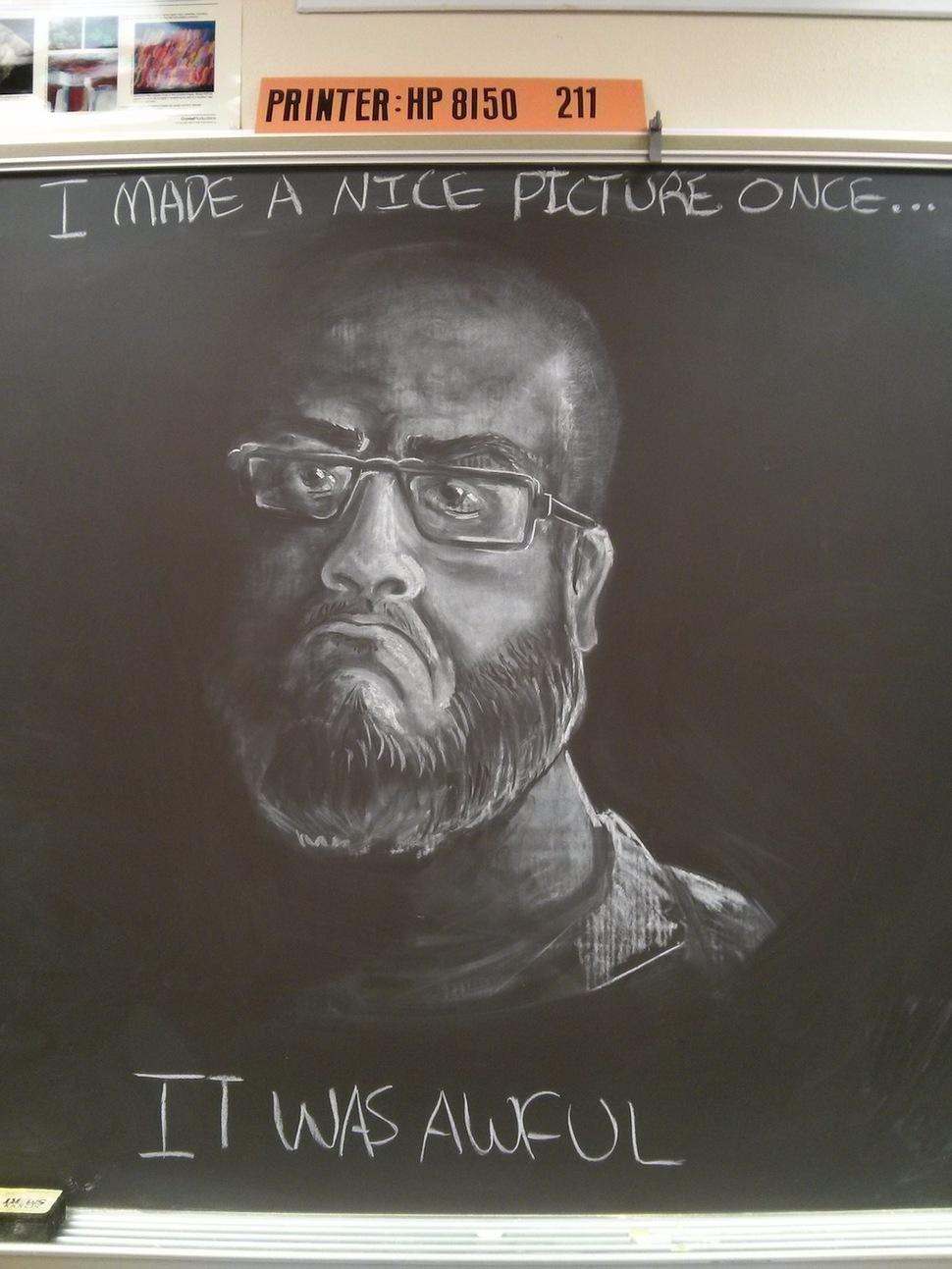 gifted teacher creates a chalkboard masterpiece3