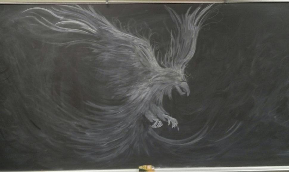 gifted teacher creates a chalkboard masterpiece4