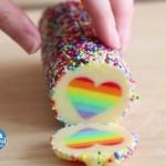 How To Make Rainbow Heart Cookies