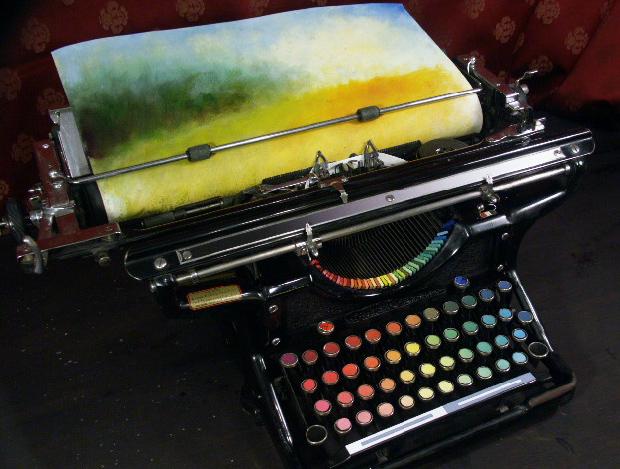 typewriter painting3