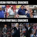 American Vs European Football Coaches