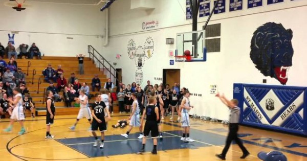 Basketball Stuck On Rim In Final Seconds Of Game, auchh