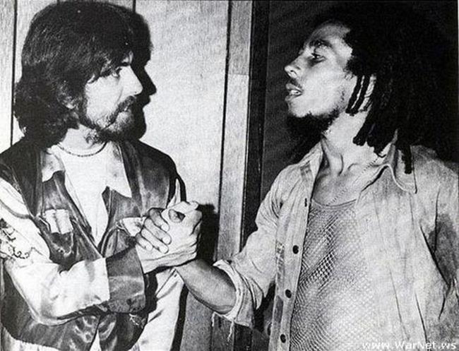 George Harrison and Bob Marley