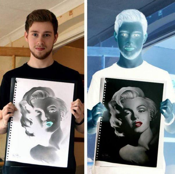 Inverted Drawing, Marilyn Monroe