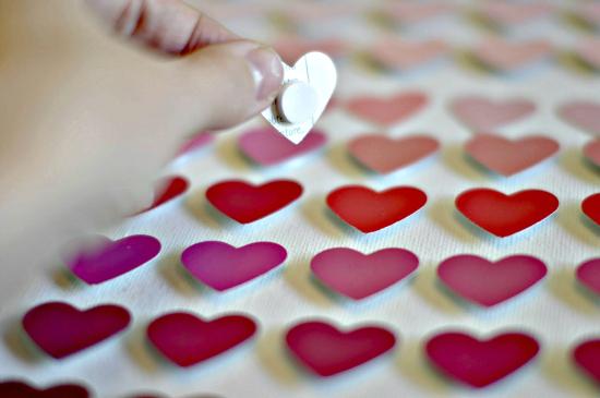 Paint Chip Heart Art4
