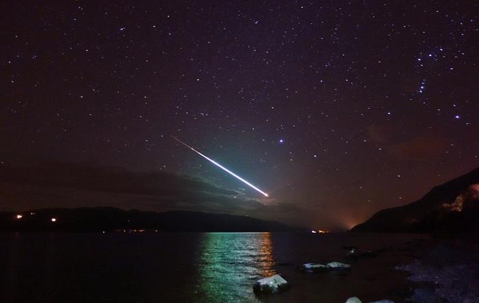 Shooting Star Over Loch Ness