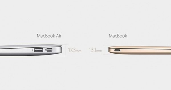 The New MacBook Is 13.1mm Thin And Weighs 2 Pounds