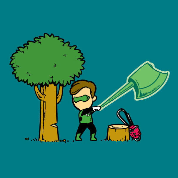 If Superheroes Had Part-Time Jobs4