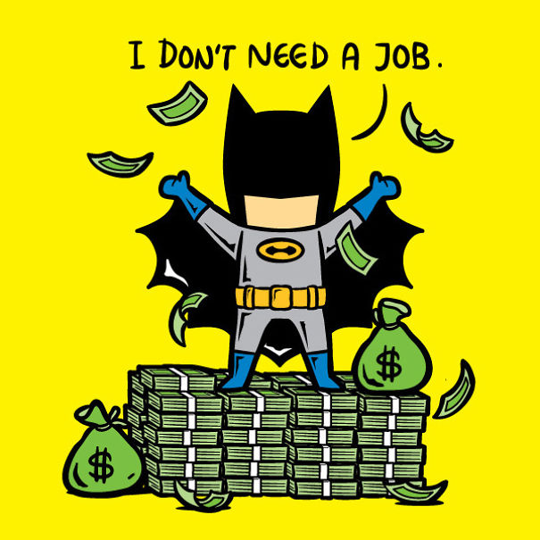 If Superheroes Had Part-Time Jobs9