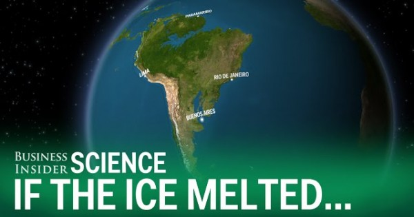 What The Earth Would Look Like If All The Ice Melted