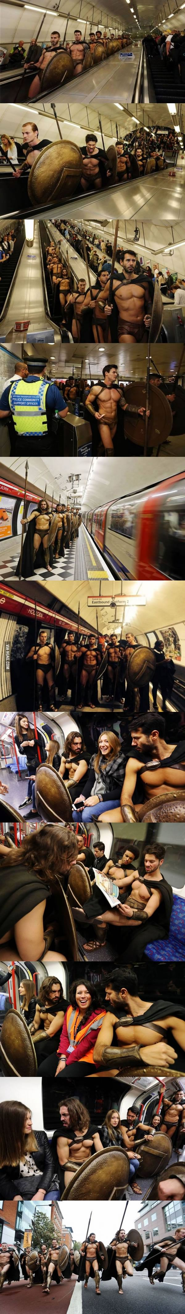 Best 300 Cosplay Ever, London Tube