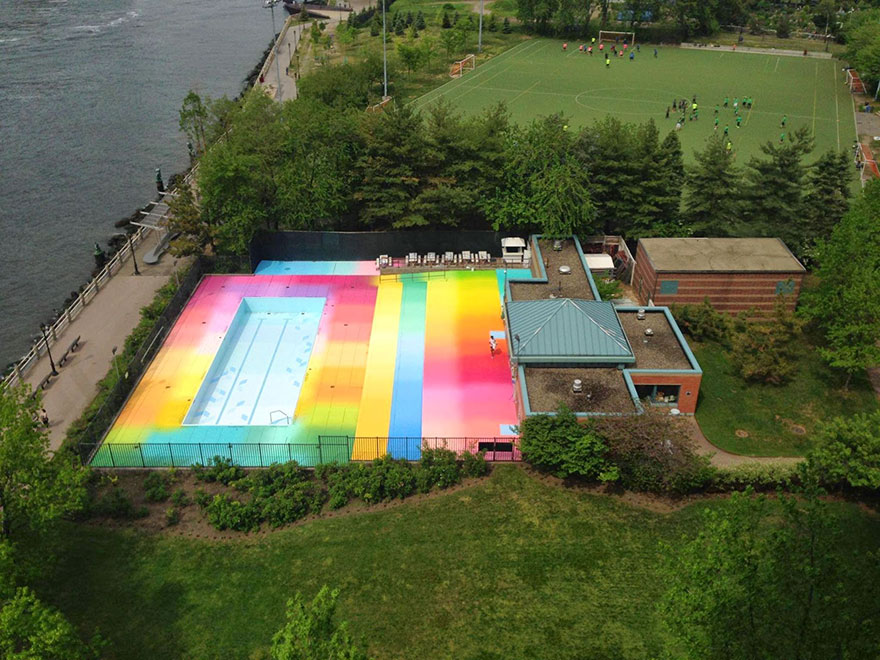 I Used 120 Gallons Of Paint To Revive An Abandoned Pool