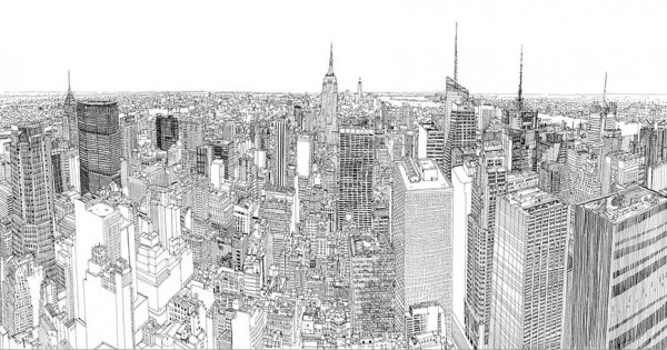 Time-Lapse Video, Drawing New York