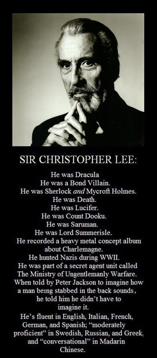 RIP Sir Christopher Lee