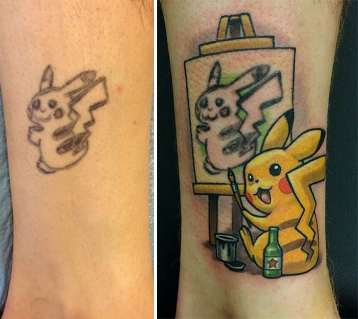 The Best Tattoo Cover-Up Idea Ever