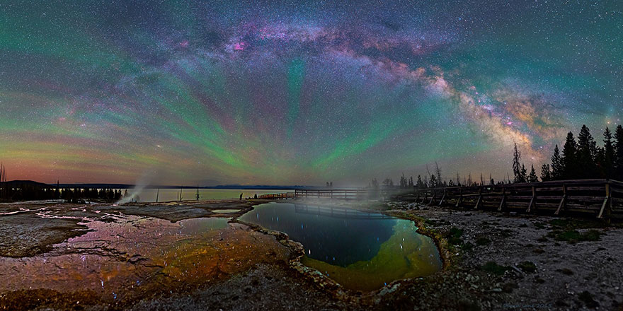 The Milky Way Over Yellowstone2