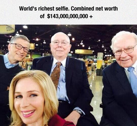 World richest selfie
