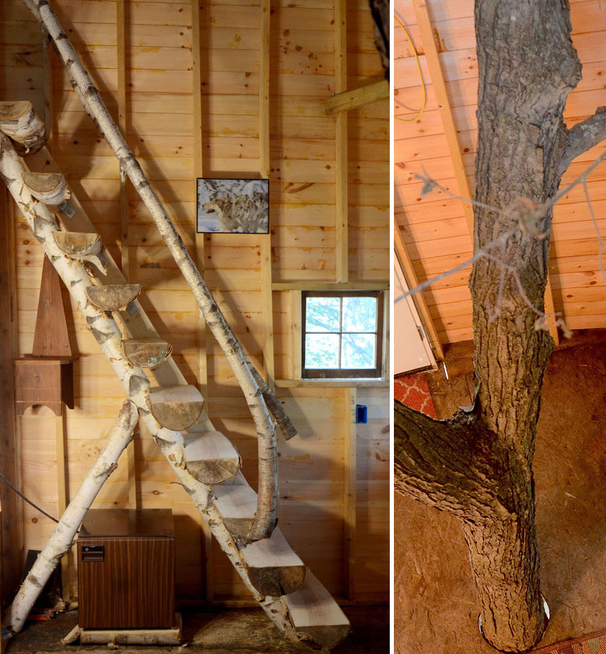 Grandfather Builds Epic 3-Story, Treehouse For His Grandkids3